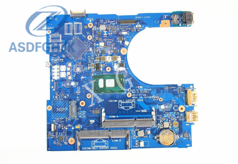 Dell Inspiron 15 5559 Laptop Motherboard Intel i5-6200U 2.3GHz Cpu VYVP1 0VYVP1