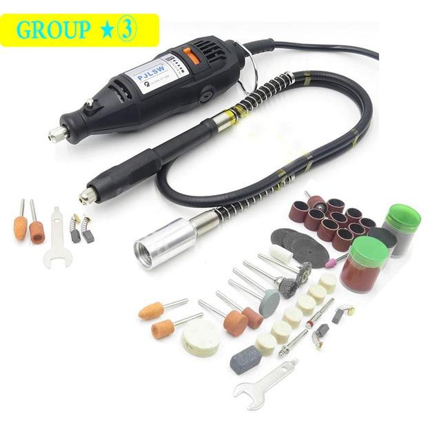 High Quality DREMEL Style Mini Grinder DIY Electric Hand Drill Machine with + soft shaft+105pcs DIY gift