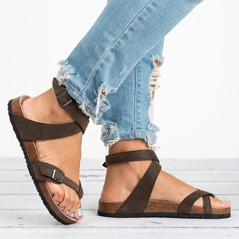 Basic Women Sandals 2019 New Women Summer Sandals Plus Size 43 Leather Flat Sandals Female Flip Flop Casual Beach Shoes Ladies 1