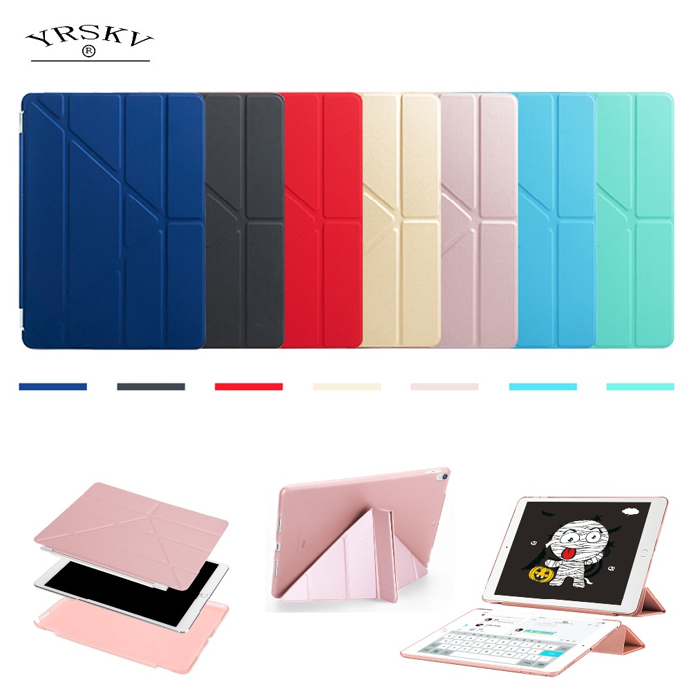 Case for New iPad 9.7 inch 2017 2018 YRSKV Deformation PU Smart Cover Magnet awakening sleeping model A1822 A1823 A1893 A1954 ...