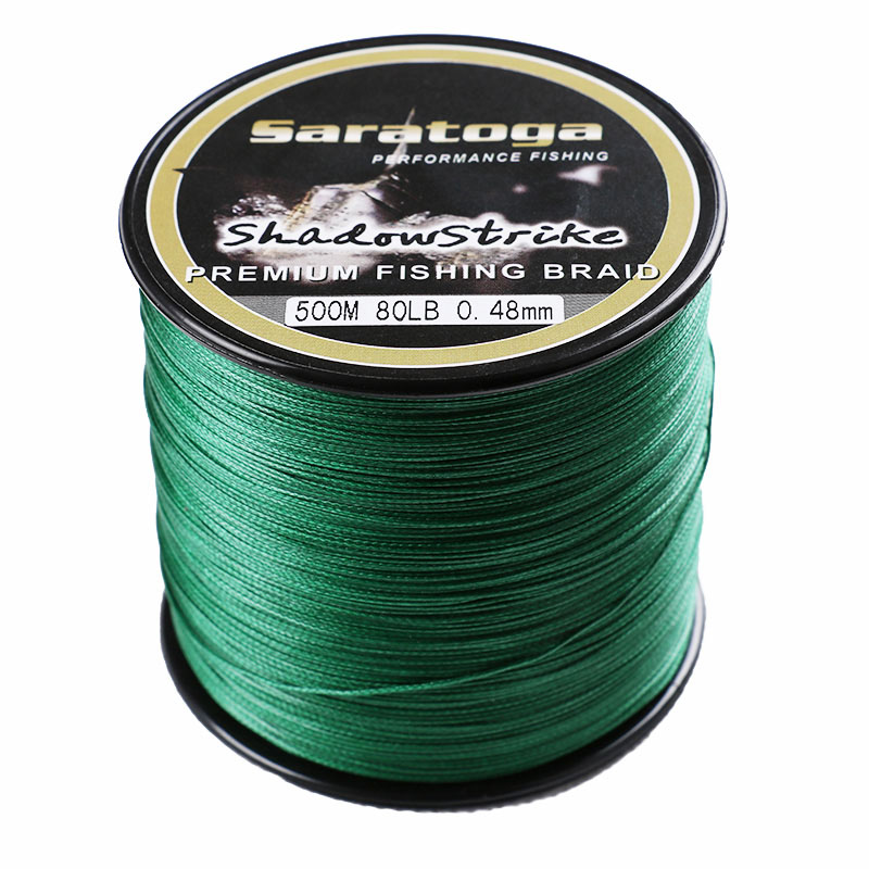 Free Shipping Top Quality Saratoga 8 Strands Braided Fishing Line Multifiament Fishing Wire 500m 6LB 30lb 60lb 100lb 200lb 300lb