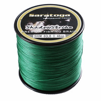 Saratoga Top Quality 8 Strand Braided Fishing Line 500m 6 30lb 12colors Available