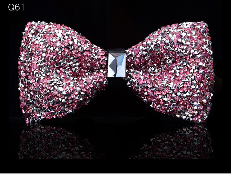 New bow tie crystal bling butterfly knot for men wedding banquet feast club party bridegroom shinning 10