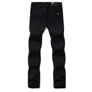 Image 3 - Nhãn hiệu Quần Jean Quần Người Đàn Ông Quần Áo Màu Đen Đàn Hồi Skinny Jeans Kinh Doanh Bình Thường Nam Denim Mỏng Quần Phong Cách Cổ Điển 2018 New