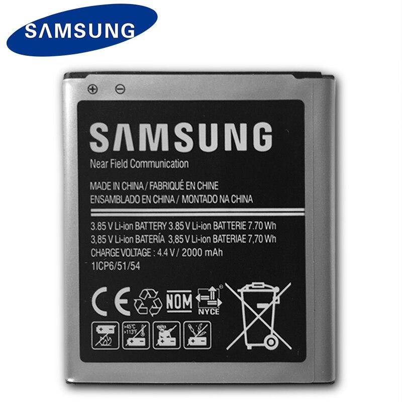 Original Samsung batería de reemplazo para Samsung Galaxy Core primer G360 G361 G360V G3608 G360H EB-BG360BBE 2000 mAh con NFC