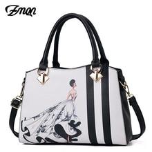 ZMQN Women Handbag Famous Brand Luxury Bags For Women 2020 Designer Handbag Ladies Hand Bags Leather Crossbody Bag Printing A713