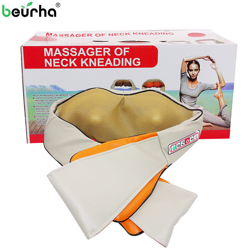 110 220V Shiatsu Cervical Back and Neck Massager Shawl Electric Roller Heat Device Manual China Home