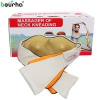 110/220V Shiatsu Cervical Back and Neck Massager Shawl Electric Roller Heat Device Manual China Home Car Massage Machine NEW