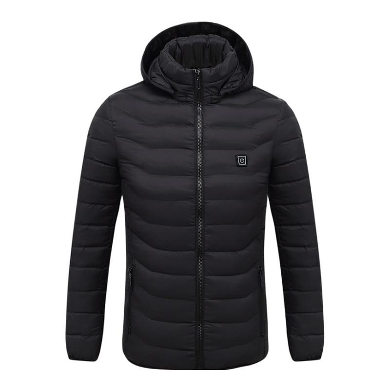 Men's Fleece Jackets Waterproof Winter Heated Jackets Thermal Heating Clothing Skiing Coat Men Hiking Jacket S 4XL 2Colors