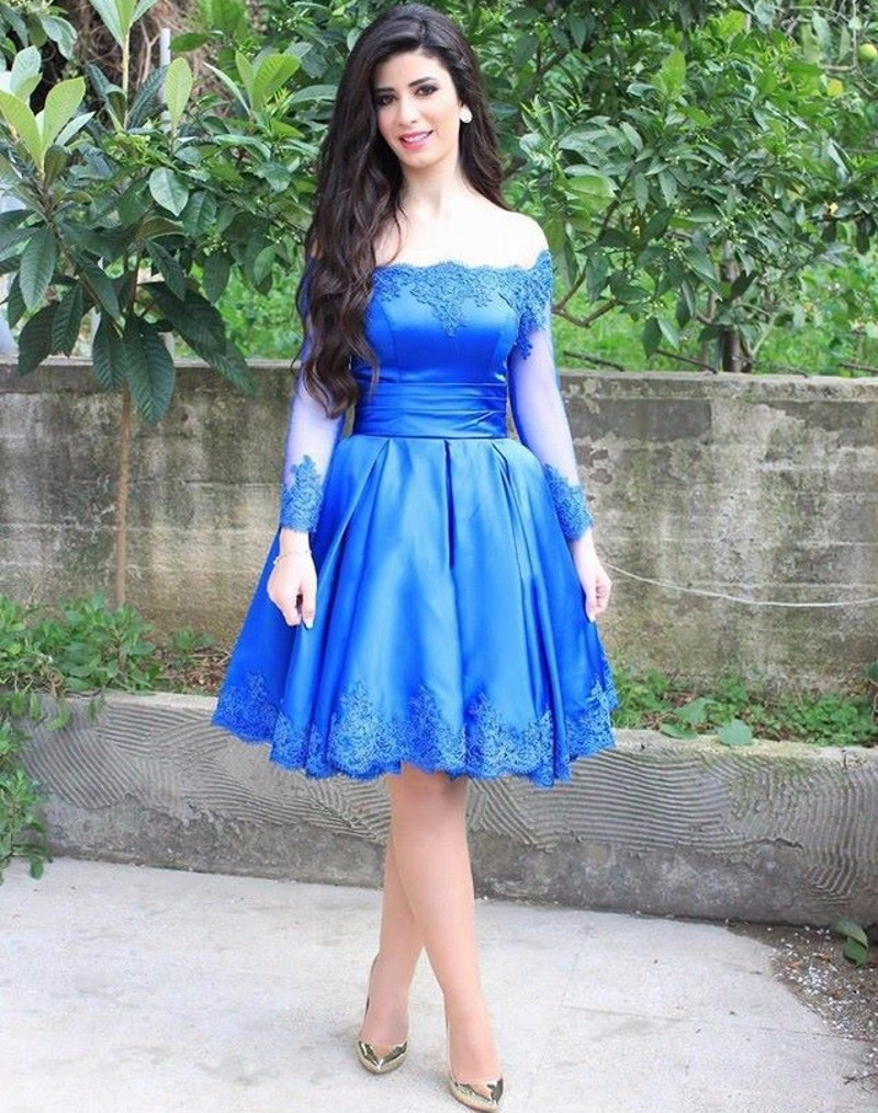 Compare Prices on Blue Homecoming Dresses Long- Online Shopping ...