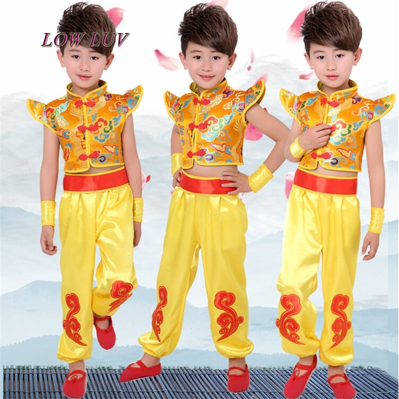 Children 's performance costumes Chinese wind martial arts performance clothing kindergarten drums dance dress