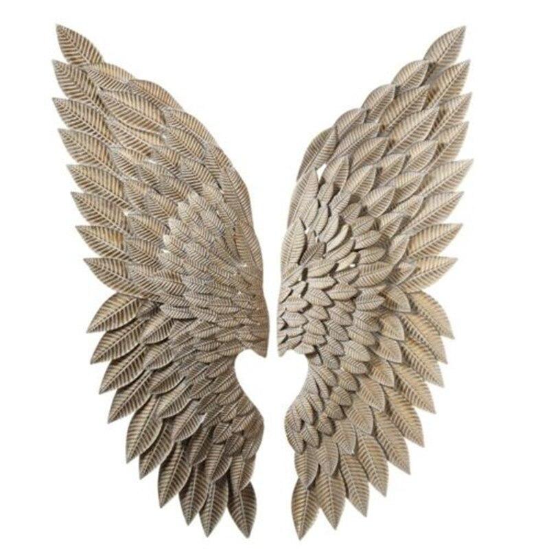 抽象天使の翼の壁の置物像レトロな壁掛け装飾アート彫刻金属工芸家の装飾R206 metaloweskrzydładekoracyjne naścianę