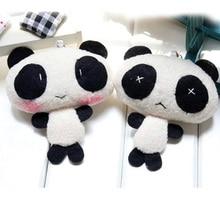 1PC 10CM Mini Panda Keychain Plush Toys Soft Stuffed Doll Creative Plush Cartoon Cute Panda Keychain Toys For Children Gift