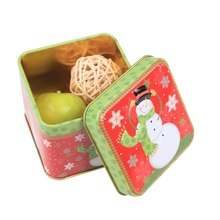 Christmas Cartoon Storage Candy Tin Box