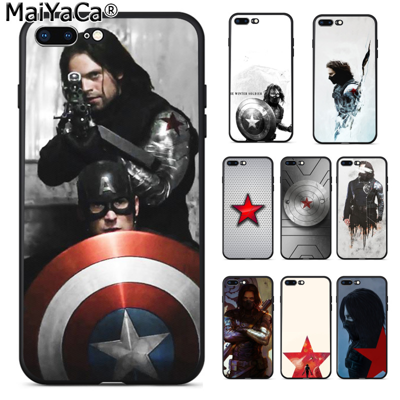 MaiYaCa Captain America Civil War Winter Soldier High Quality phone cover for Apple iPhone 8 7 6 6S Plus X 5 5S SE XS XR XS MAX Солдат