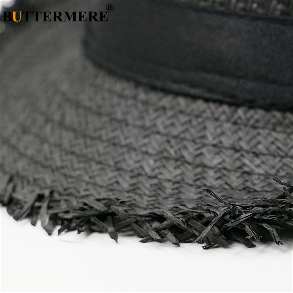 8f7b6e81d26 BUTTERMERE Brown Straw Beach Hat Men Women Summer Panama Cap Casual Fedora  Hat Male Fashion Straw Hat UV Protection-in Sun Hats from Apparel  Accessories on ...