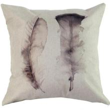 New Arrival  43*43cm Cotton linen colorful feather leaning cushion pillow cover for  Home decor