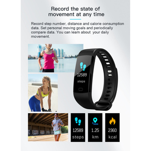 Image 5 - SENBONO Bluetooth Y5 Heart Rate Blood Pressure Oxygen Monitoring Smart Band Watch Wristband Fitness tracker Smart Band Russian