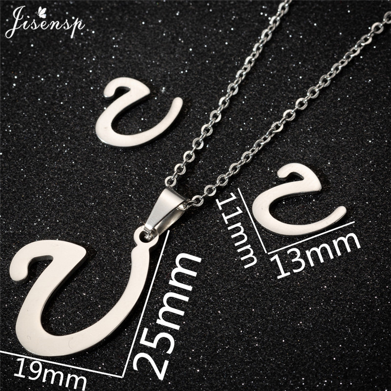 Jisensp Personalized A-Z Letter Alphabet Pendant Necklace Gold Chain Initial Necklaces Charms for Women Jewelry Dropshipping 42