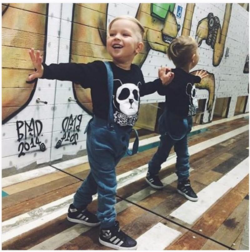 For Boys Girls Sweater T-Shirts Clothes Autumn Winter New Panda Bear Printing Tops Kids Sweatershirt  Tees Clothing Full Sleeve 02