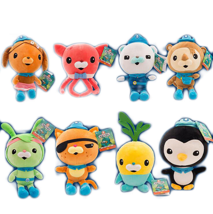 8style Octonauts Plush Toys Captain Barnacles Kwazii Peso Shellington Dashi Stuffed Dolls Action Figure Soft Kids Toy Gifts цена 2017