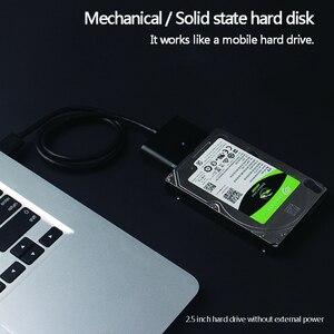 """Image 4 - USB 3.0 SATA كابل ل 2.5 """"و 3.5"""" الخارجية SSD HDD القرص الصلب محول مع سلك الطاقة (الولايات المتحدة التوصيل)"""