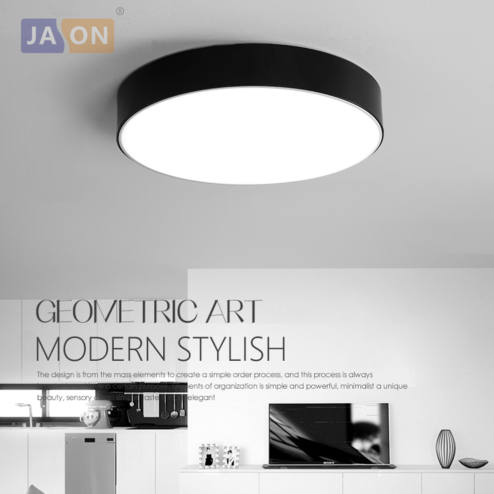 Led Modern Acryl Alloy Black White Round Led Lamp Led