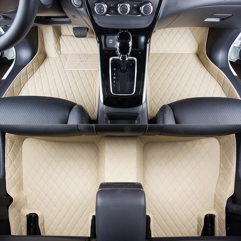 WLMWL Car Floor Mats For Cadillac all models ATS CT6 CTS SRX ATSL SLS XTS car styling auto accessories Car Carpet Covers