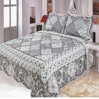 Comfortable high grade cotton bedding quilted bed cover 220 * 240 double bed pastoral European printing bedspread