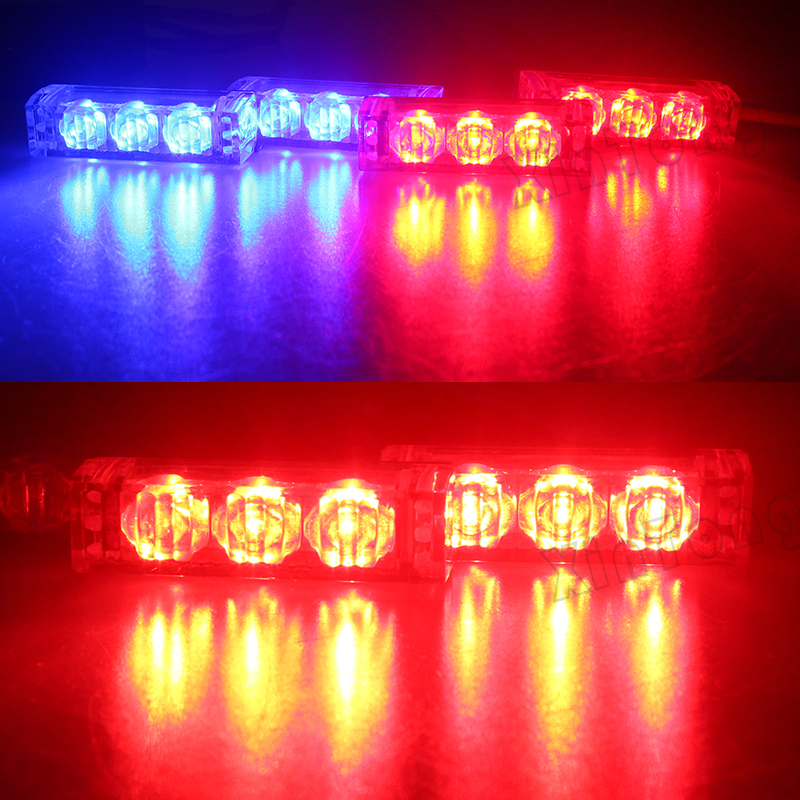 2x3 4x3 6x3 8x3LED Car Strobe Flash Warning EMS Police Lights Firemen Emergency High Power Red Blue White Green Amber Yellow стоимость