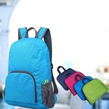 Lightweight Nylon Foldable Backpack Waterproof Backpack Folding Bag Ultralight Outdoor Pack for Women Men Travel Hiking women men backpack riding back pack bag ultra light folding waterproof travel nylon shoulder bags