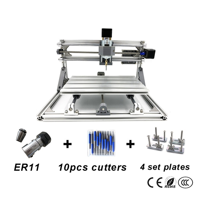 Disassembled pack DIY mini CNC 3018 PRO without laser head engraving machine Wood Carving machine with GRBL control disassembled pack mini cnc 3018 pro 500mw laser cnc engraving wood carving machine mini cnc router with grbl control l10010