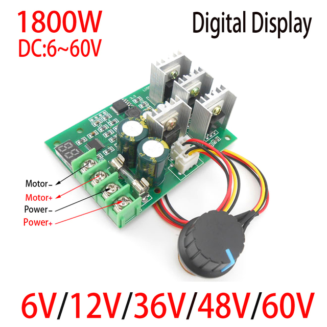 Digitalanzeige 1800w high power 30a dc motorsteuerung dc 6v 12v 24v ...