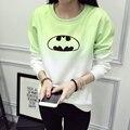 Divertido Batman Sudadera Mujeres Sudadera Con Capucha Sudadera Mujeres Más El Tamaño de Impresión Del O-cuello Ocasional Fleece Batman Sudaderas de Chándal JBW-11175