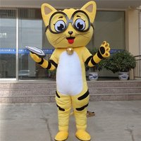 Cat Mascot Costume Cartoon Character Funny Mascots Carnival Character Suit Cosplay Outfits Adult