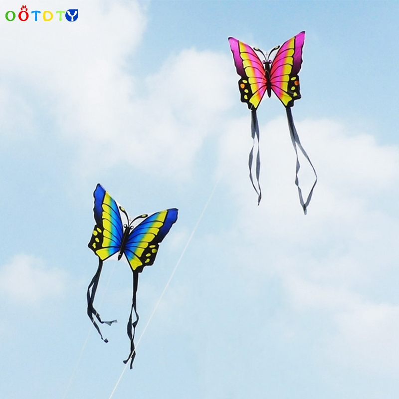 Kites & Accessories Outdoor Fun & Sports 35 Inch Butterfly Kite Outdoor Toy Sport Gift For Kids Children With String Tail