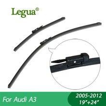 купить 1 set Wiper blades for Audi A3(2004-2014),19+24,car wiper,Boneless wiper, windscreen, Car accessory дешево