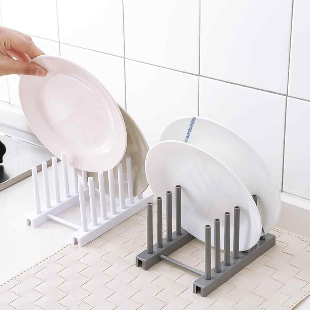Simple Design ABS Material Kitchen Dish Plate Pot Cover Drying Drain Holder Plastic Storage Rack Shelf Kitchenware Drop Shipping