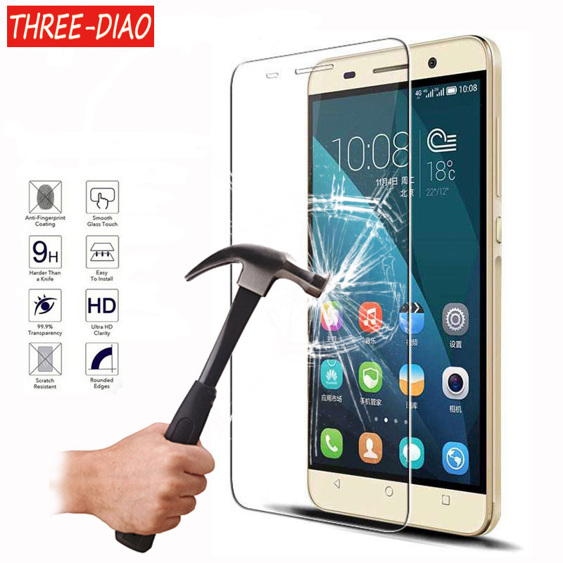 Explosion Proof Screen Protector For <font><b>Huawei</b></font> P8 P9 P10 Lite 2017 <font><b>Honor</b></font> 6 7 8 4C <font><b>5C</b></font> Premium Tempered <font><b>Glass</b></font> Protective Cover Film image