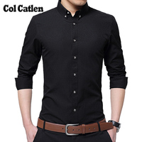New Brand High Quality Men Shirt Slim Fit Long Sleeve Casual Cotton Blouse Business Mens Dress