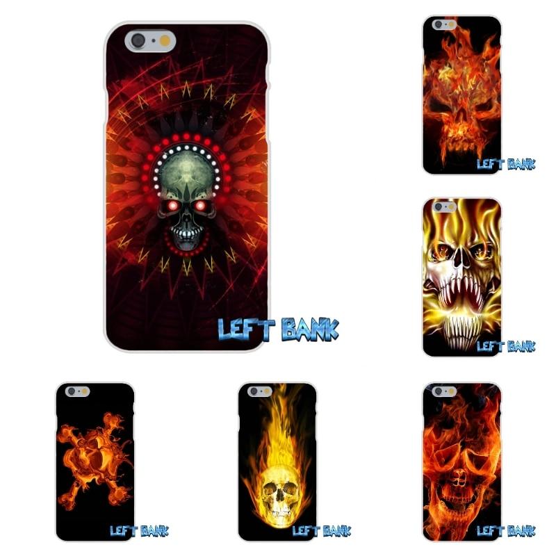 Metallica Skull on Flames Soft Silicone TPU Transparent Cover Case For Xiaomi Redmi 3 3S Pro Mi3 Mi4 Mi4C Mi5S Note 2 4