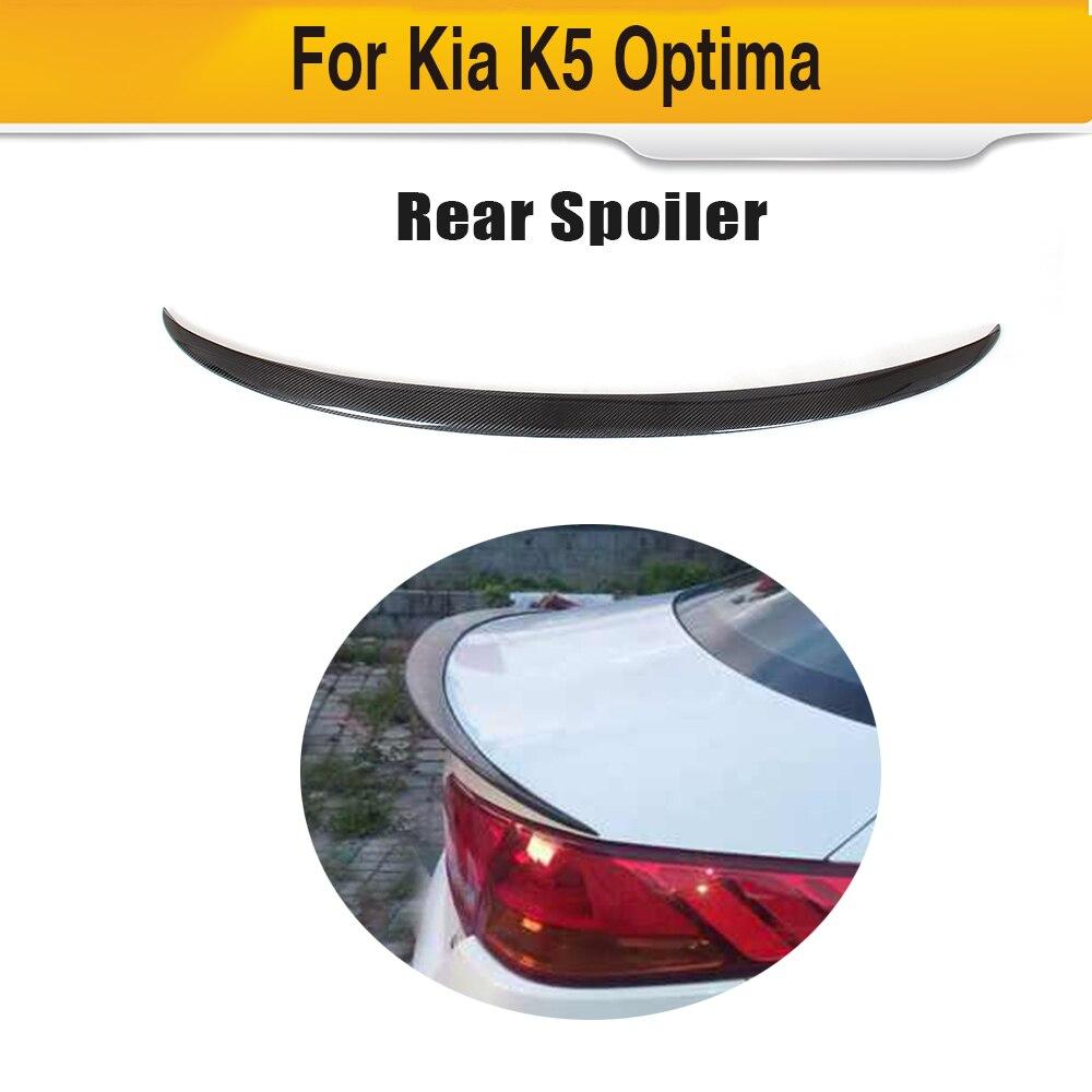 Carbon Fiber Auto Car Rear Wings Trunk Lip Spoiler For Kia K5 Optima 2013 2014 2015 JC StyleCarbon Fiber Auto Car Rear Wings Trunk Lip Spoiler For Kia K5 Optima 2013 2014 2015 JC Style