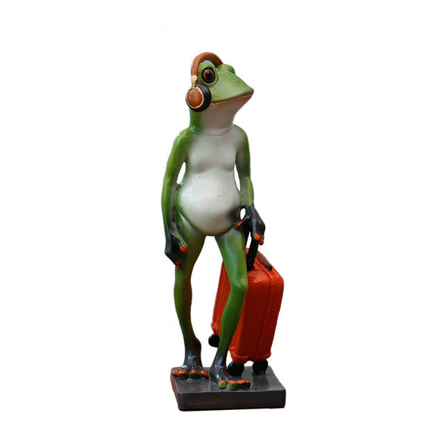 Creative Resin Frog Home Decor Figurines Handmade Crafts Tv Cabinet Ornaments Wine Cooler Simulation Personalized