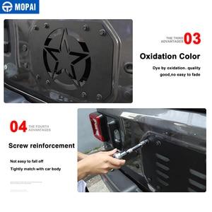 Image 5 - Listwy do stylizacji samochodu MOPAI dla Jeep Wrangler JL 20118 tylna klapa samochodu pokrywa wentylatora wydechowego dla Jeep JL Wrangler akcesoria