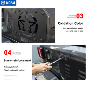 Image 5 - Mopai車ジープラングラーのためスタイリングモールディングjl 20118 車のテールゲート排気ベントジープjlラングラーアクセサリー