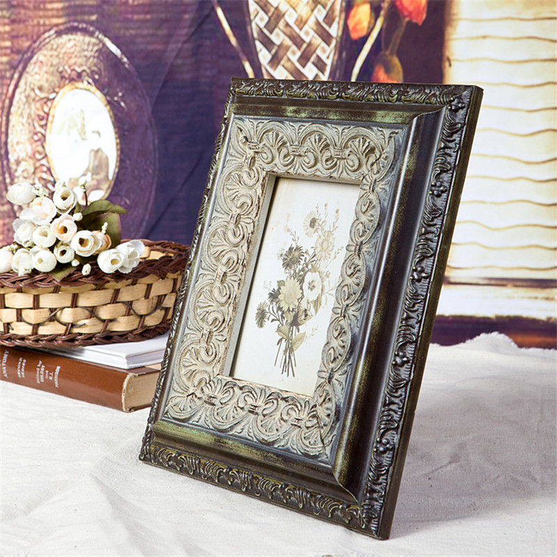 Make Old Vintage Style Picture Frame Wooden Classic Household