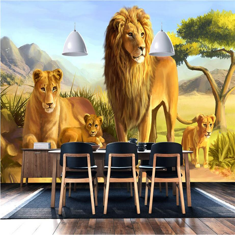 Photo Wall Mural Animal Lion Murals Wall 3d Wallpaper Walls for Bedroom TV Background 3d Wall Mural Wallpaper Embossed Non-Woven shinehome sunflower bloom retro wallpaper for 3d rooms walls wallpapers for 3 d living room home wall paper murals mural roll