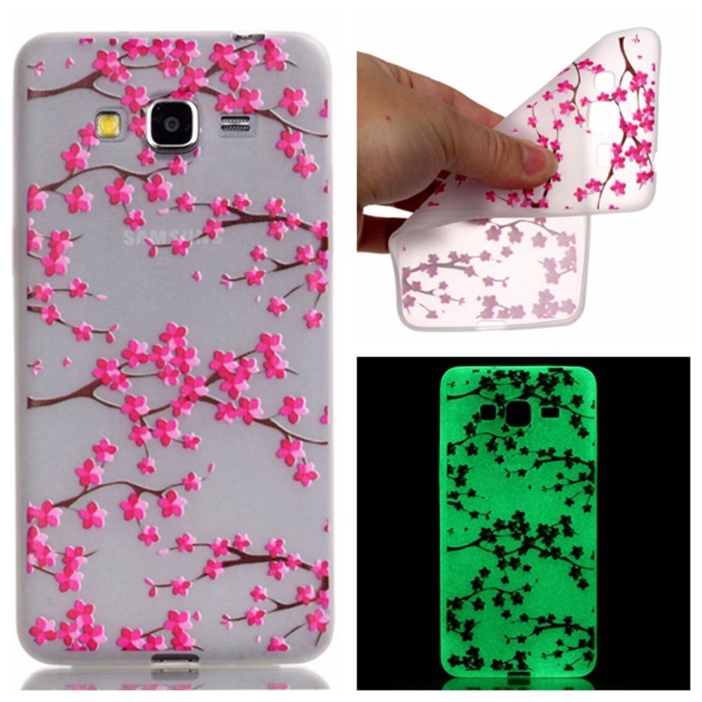 Fashion Luminous <font><b>Case</b></font> Slim Fluorescence Soft TPU <font><b>Phone</b></font> Cover for Samsung <font><b>Galaxy</b></font> <font><b>J3</b></font> J300 2016 J320 Glow in the Dark Silicone Skin