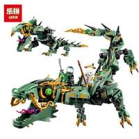 Lepin Flying Mecha Dragon Building Blocks Genuine Movie Series Ninja Compatible 592pcs Bricks Toys Gifts For