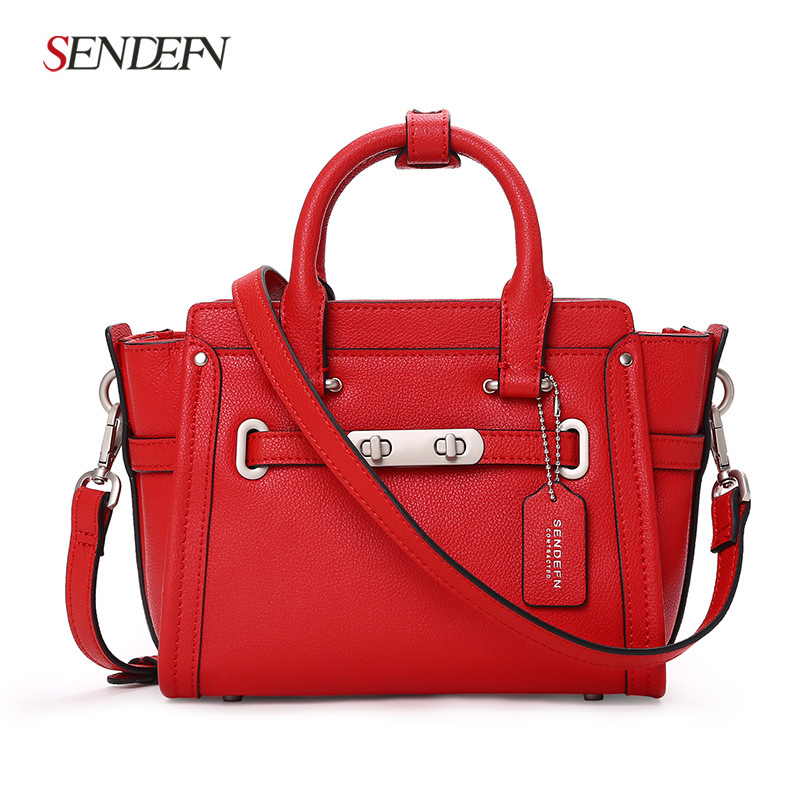 Spot Hot Europe and the United States Fashion Shoulder Handbags Genuine Wild Bags Messenger Bag europe and the united states classic sheepskin checkered chain tide package leather handbags fashion casual shoulder messenger b
